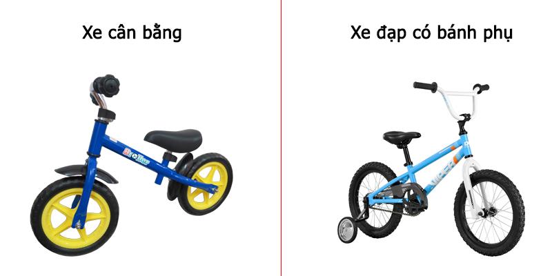 so-sanh-giua-xe-dap-can-bang-va-xe-dap-2-banh-co-banh-phu