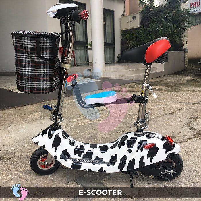 Xe điện mini E Scooter bình ắc quy 24V có yên 8