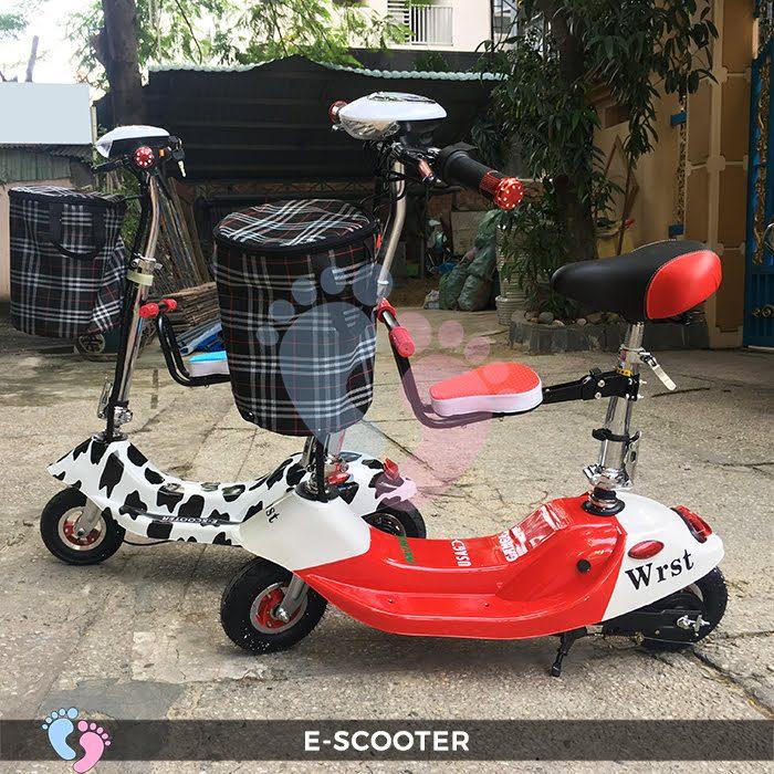 Xe điện mini E Scooter bình ắc quy 24V có yên 9