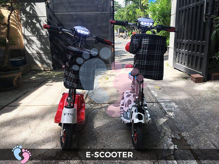 Xe điện mini E Scooter bình ắc quy 24V có yên 10