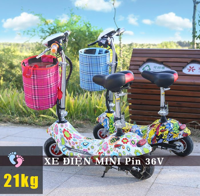 Xe điện Mini E-Scooter Pin Li-po 36V 3