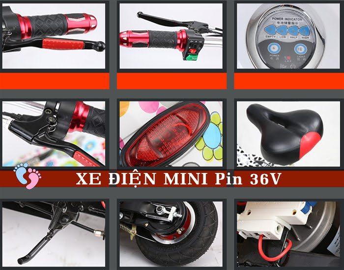 Xe điện Mini E-Scooter Pin Li-po 36V 7