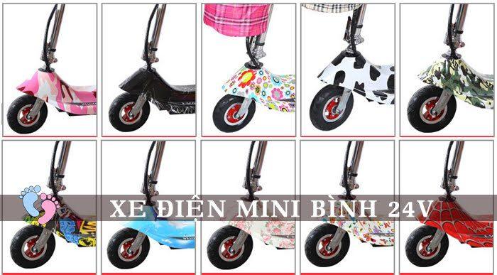 Xe điện mini E Scooter Bình ắc quy 24V 5