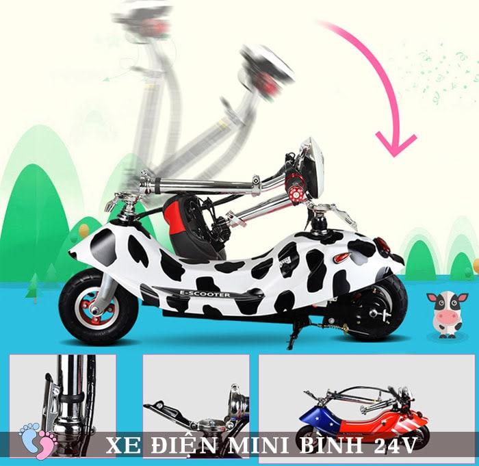 Xe điện mini E Scooter Bình ắc quy 24V 3