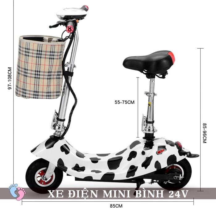 Xe điện mini E Scooter Bình ắc quy 24V 2