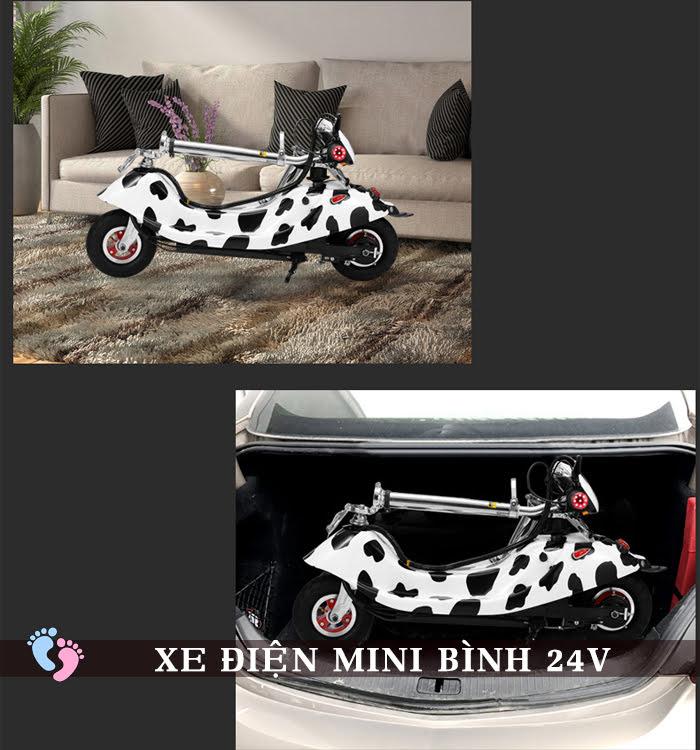 Xe điện mini E Scooter Bình ắc quy 24V 4