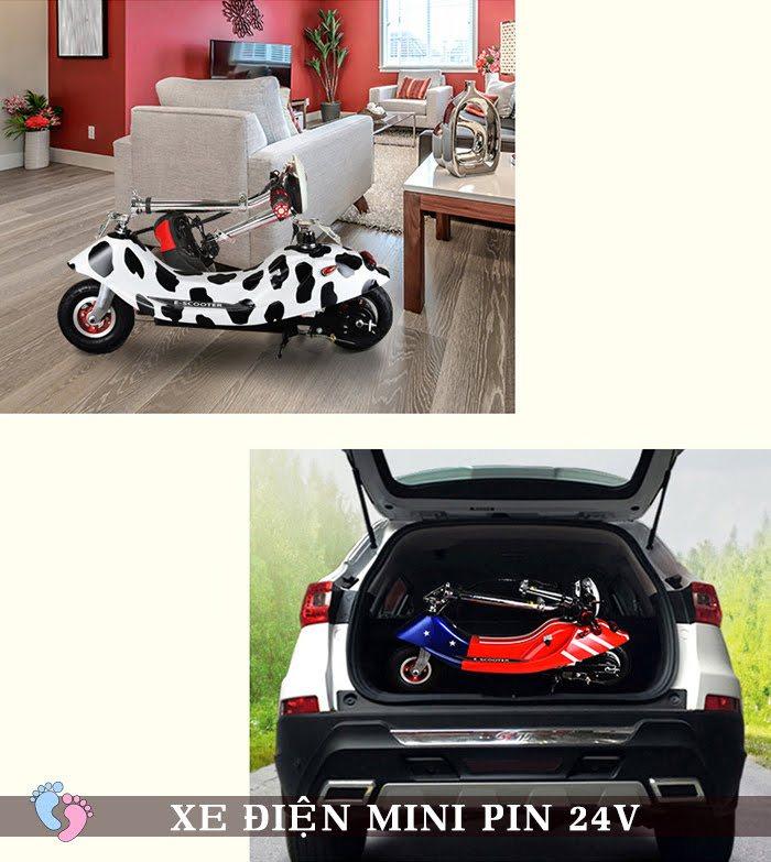 Xe điện Mini E-Scooter Pin Li-po 24V 10