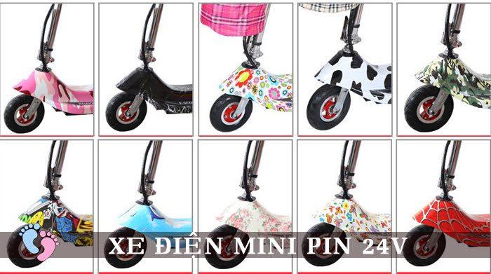 Xe điện Mini E-Scooter Pin Li-po 24V 13