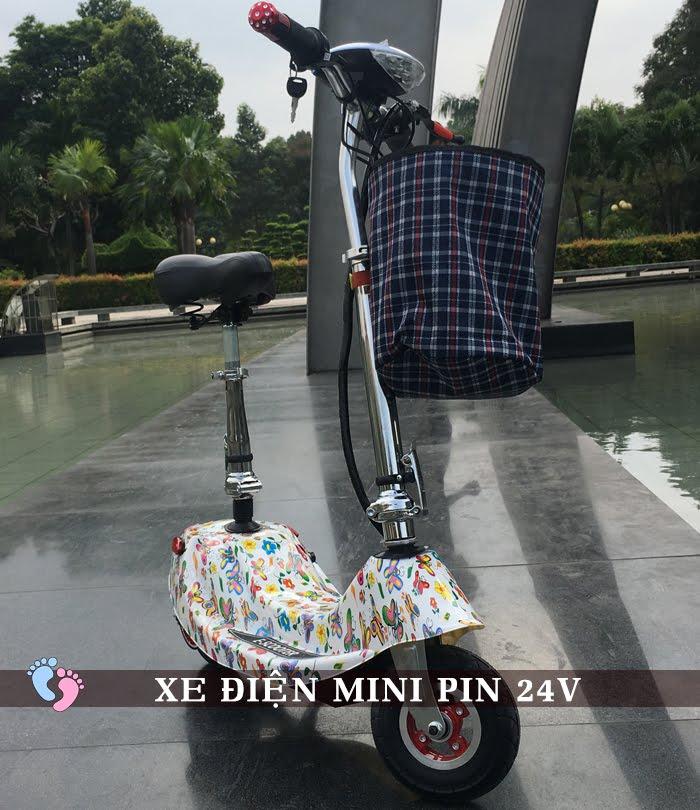 Xe điện Mini E-Scooter Pin Li-po 24V 3