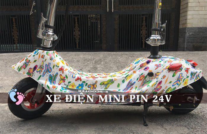 Xe điện Mini E-Scooter Pin Li-po 24V 4