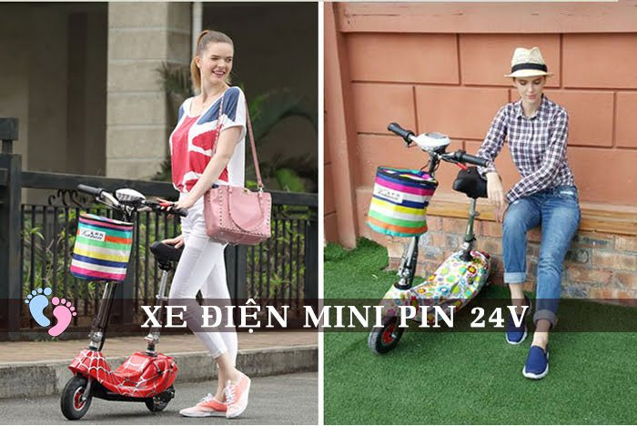 Xe điện Mini E-Scooter Pin Li-po 24V 7