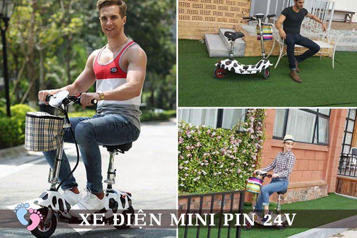 Xe điện Mini E-Scooter Pin Li-po 24V 8