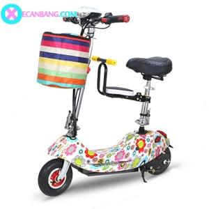 Xe điện E-Scooter mini dùng pin 24V có yên cho bé