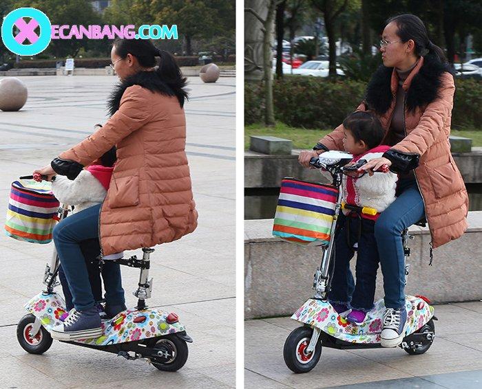 Xe điện E-Scooter mini dùng pin 24V có yên cho bé 9
