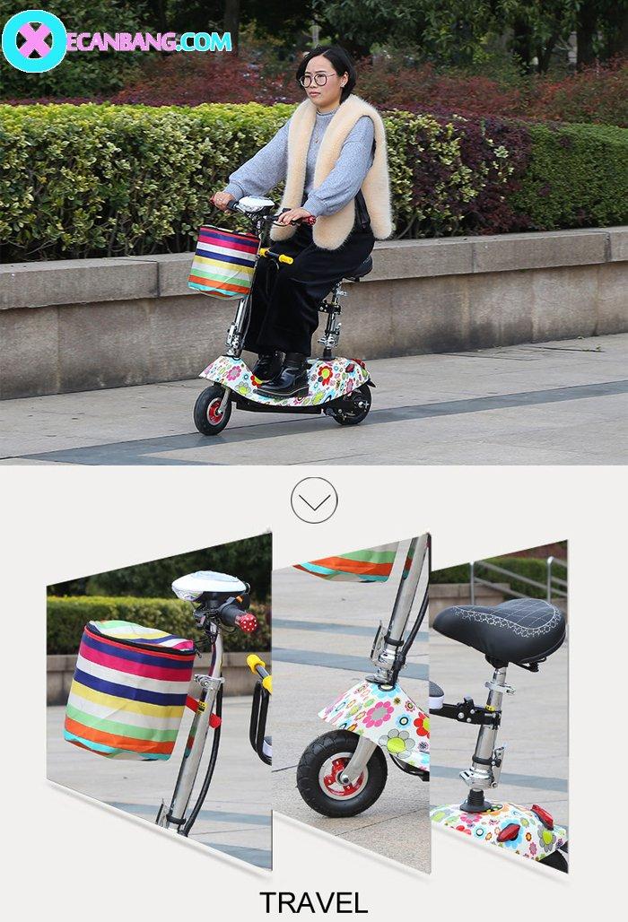 Xe điện E-Scooter mini dùng pin 24V có yên cho bé 10
