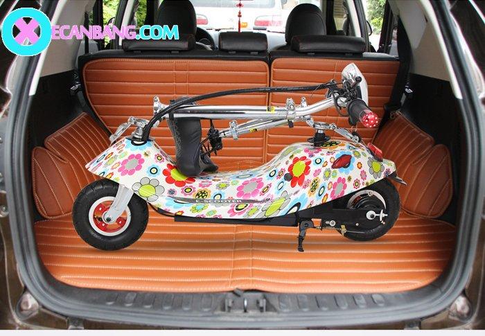 Xe điện E-Scooter mini dùng pin 24V có yên cho bé 4