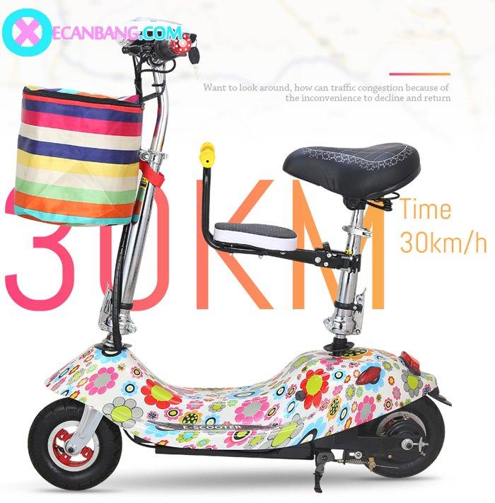 Xe điện E-Scooter mini dùng pin 24V có yên cho bé 5