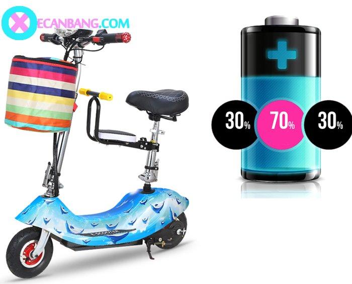 Xe điện E-Scooter mini dùng pin 24V có yên cho bé 6