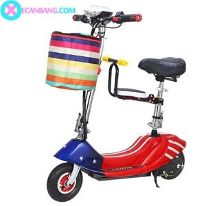 Xe điện E-Scooter mini dùng pin 36V có yên cho bé