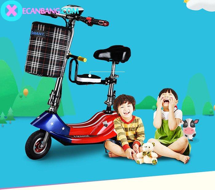 Xe điện E-Scooter mini dùng pin 36V có yên cho bé 1