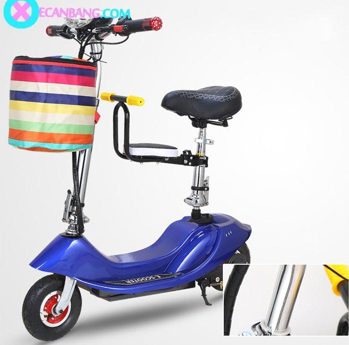 Xe điện E-Scooter mini dùng pin 36V có yên cho bé 3