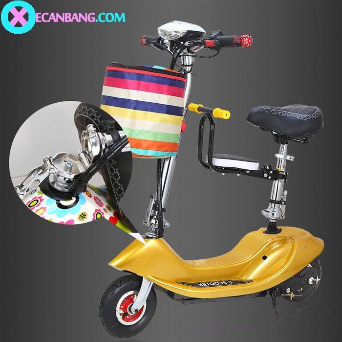 Xe điện E-Scooter mini dùng pin 36V có yên cho bé 6