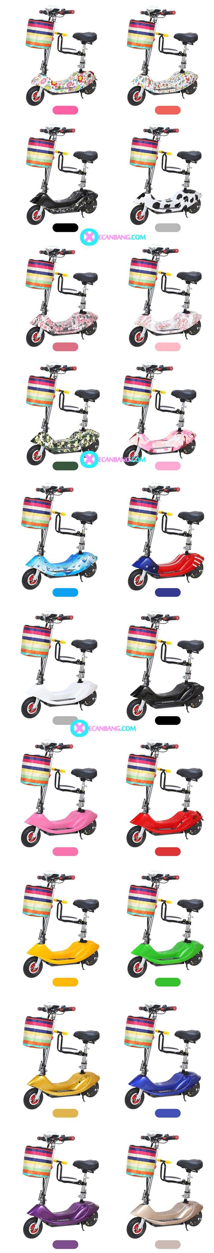 Xe điện E-Scooter mini dùng pin 36V có yên cho bé 8