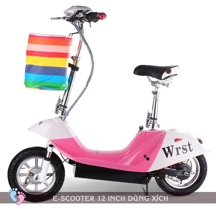 Xe điện E-Scooter mini 12inch 24V Dùng xích 2