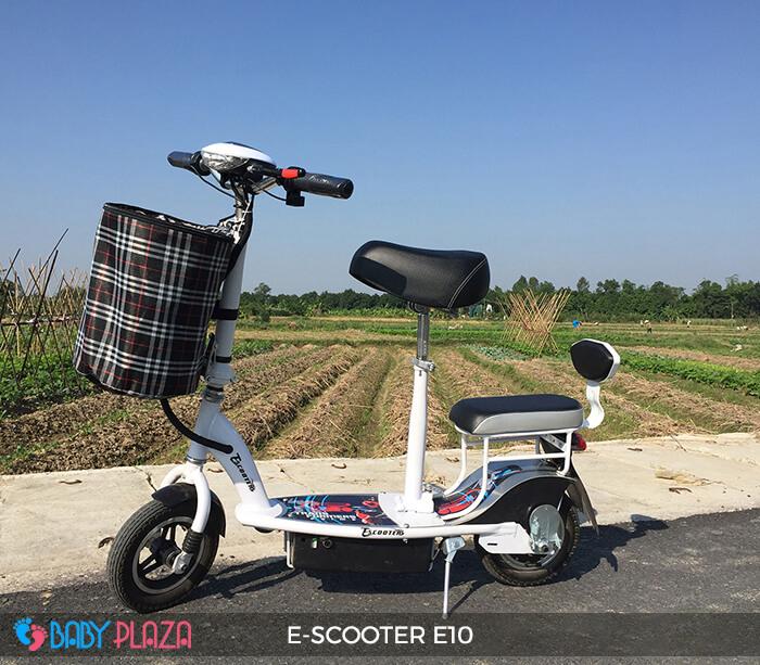 Xe điện E-scooter mini E10 bánh 10 inch 12