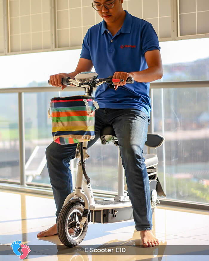 Xe điện E-scooter mini E10 bánh 10 inch 5
