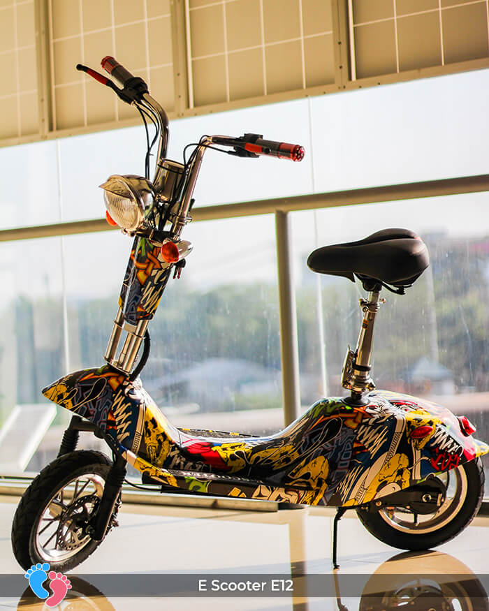 Xe điện mini bánh lớn 12 inch E12 1