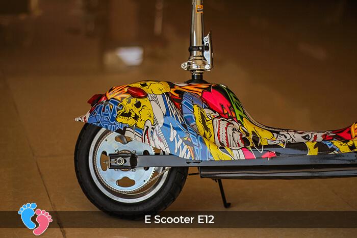 Xe điện mini bánh lớn 12 inch E12 13