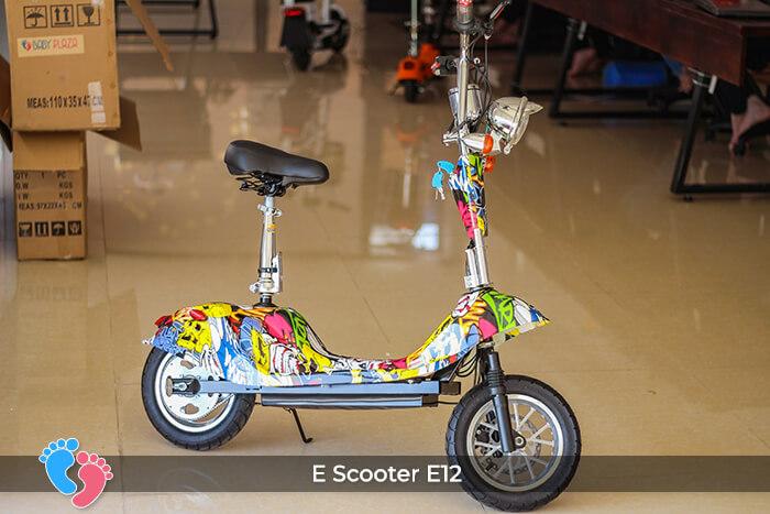 Xe điện mini bánh lớn 12 inch E12 3