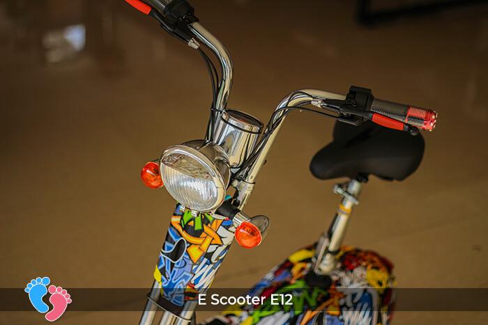 Xe điện mini bánh lớn 12 inch E12 6