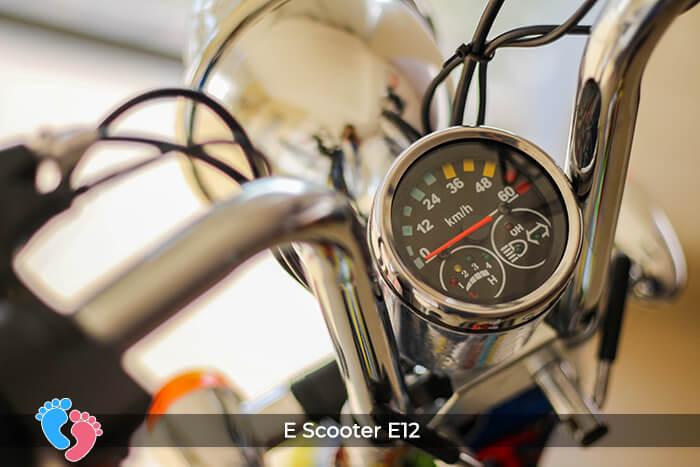 Xe điện mini bánh lớn 12 inch E12 8